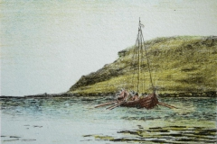 Til Vinland Litografi Litografi 11x14 cm 400 ur