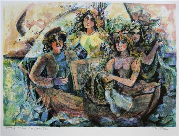 Marinemaleren Serigrafi (44x59 cm) kr 2500 ur
