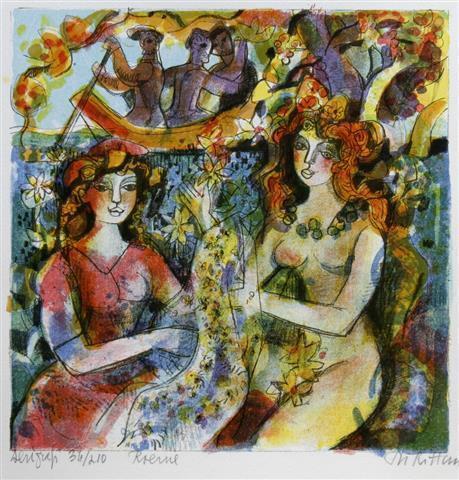 Roerne Serigrafi (27,5x27,5 cm) kr 1500 ur