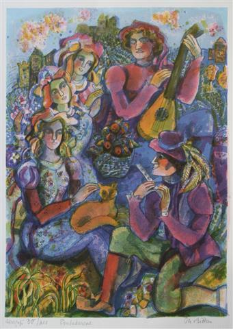 Trubadurene Serigrafi (58x42 cm) kr 2200 ur