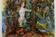 Gammel skog Serigrafi (25,5x33 cm) kr 1500 ur