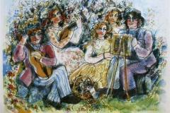 Maleri og musikk Serigrafi (45x60 cm) kr 2500 ur