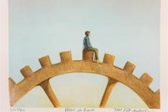 Man in time Litografi (20x26 cm) kr 900 ur