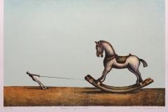 Taming a Trojan horse Litografi (36x54 cm) kr 2900 ur
