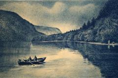 Ferieminne Litografi 21,5x39,5 cm 1700,-kr u.r.