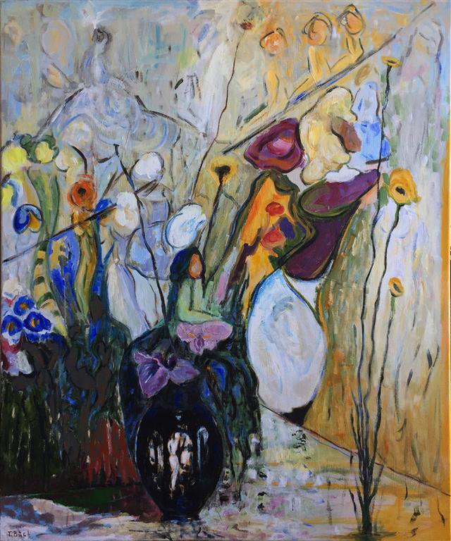 Duften av kvinnen Akrylmaleri (120x100 cm) kr 15000