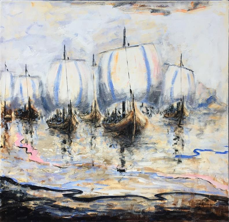 Erling Skjalgson Akrylmaleri (80x80 cm) kr 8000