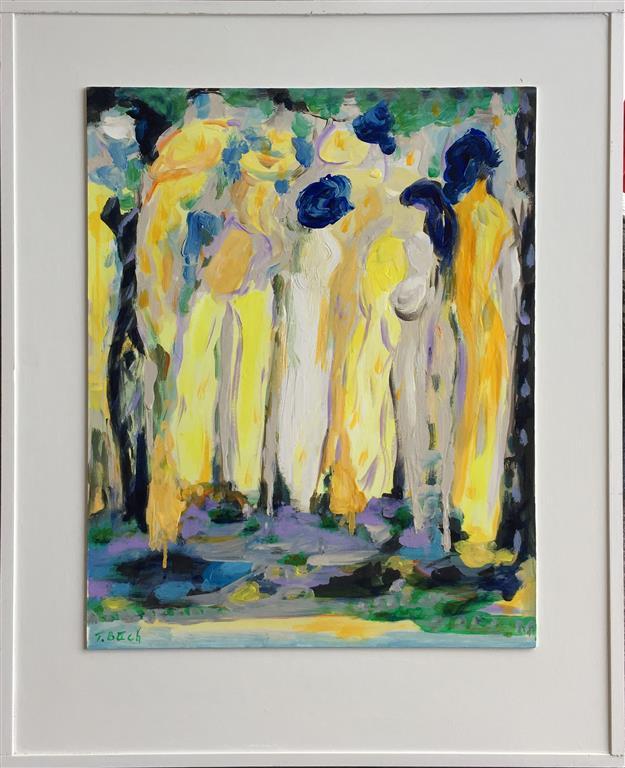 Kvinner IV Akrylmaleri (51x41 cm) kr 3000