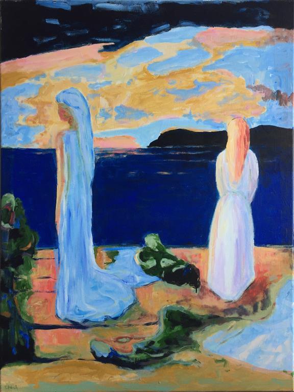 Lengsel Akrylmaleri (120x90 cm) kr 14000
