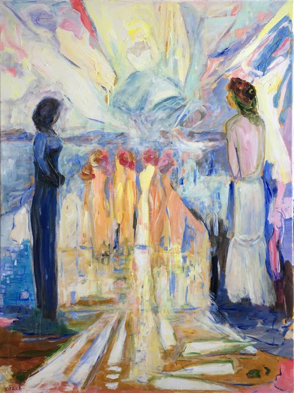 Skjønnhetskilden Akrylmaleri (120x90 cm) kr 14000