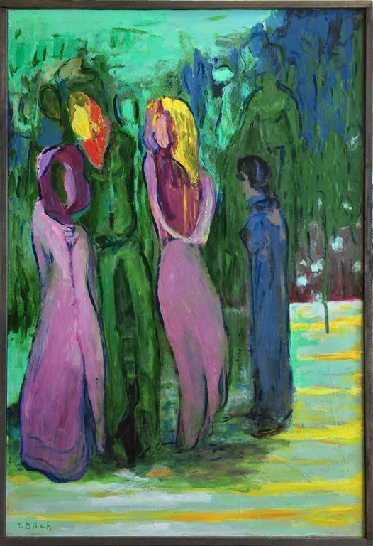 Skogbrynet Akrylmaleri (90x61 cm) kr 6000