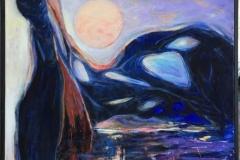 Vårløsning Akrylmaleri (120x80 cm) kr 12000