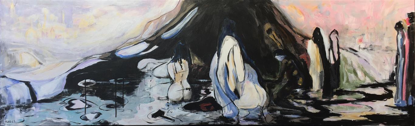 Floden Akrylmaleri (50x165 cm) kr 12000