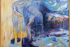 Kjempen Akrylmaleri (90x100 cm) kr 11000