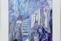 Trappen Akrylmaleri (81x63 cm) kr 4500 mr