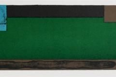 Komposisjon, grønn Litografi (11x48 cm) kr 1100 ur