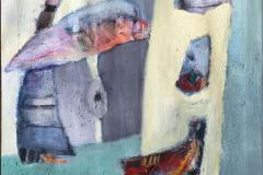 Hvor ble det av katten Akrylmaleri ( 60x50 cm) kr 5500 mr