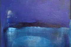 Grete Skoe. Den bla timen Akrylmaleri (80x60 cm) kr 8500 mr