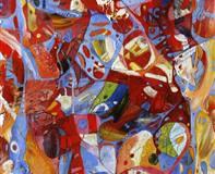 Kjærlighetsformel II Oljemaleri (120x30 cm)