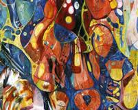 Kjærlighetsformel III Oljemaleri (120x30 cm)