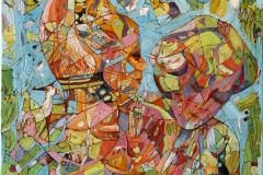 Samtale I Oljemaleri (30x30 cm)