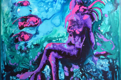 Glance of ocean Akrylmaleri (120x120 cm) kr 15000 ur