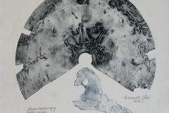 Fragmenter fra en svunnen tid Etsning 32x32 cm 1500 ur