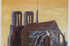 Notre Dame de Paris LItografi 48x30 cm 1800 ur