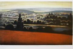 Mot Caravaggio Litografi 27x46 cm 2400 ur