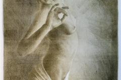 Danser Litografi 53x25 cm 2000 ur