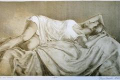 Hebe (blaa variant) Litografi 24x45,5 cm 2000 ur