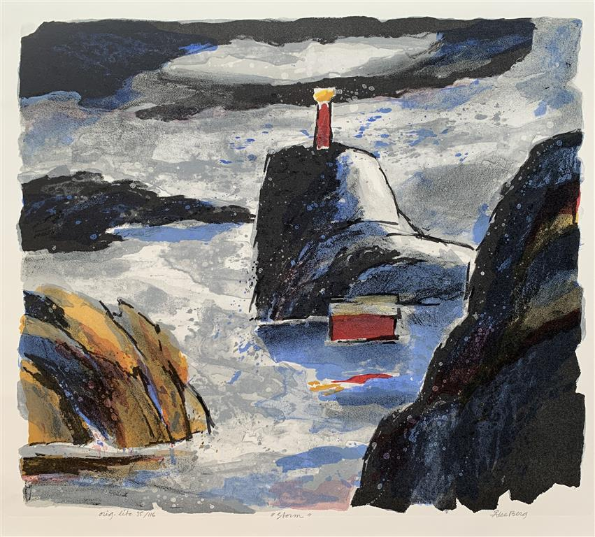 Storm Litografi (50x58 cm) kr 4500 ur