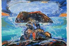 Holmen Litografi (46x57 cm) kr 4000 ur