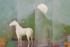 Listening horse Akrylmaleri (50x50 cm) kr 6500 ur