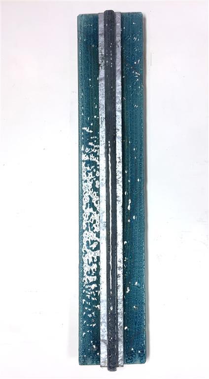 Glassbilde I Fuset glass (87x16 cm) kr 3000
