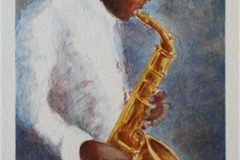 Charlie Parker sax Litogarfi 27x18,5 cm 600 ur
