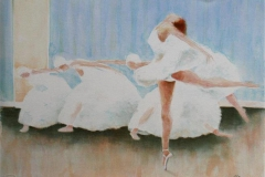 Swan Lake part I Litografi 31,5x43 cm 1100 ur