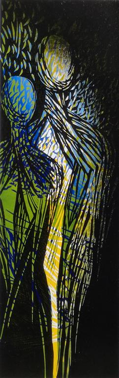 Nattevandrere Linosnitt (80x26 cm) kr 3300 ur