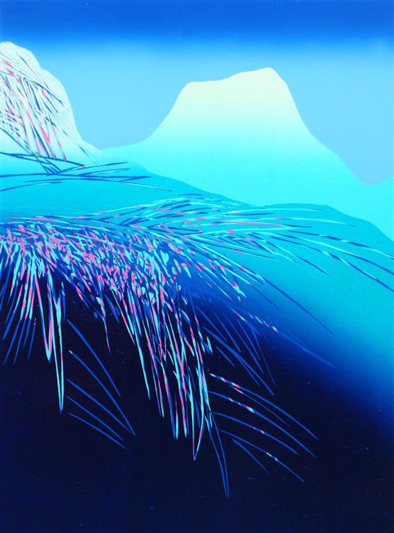 Naturen er lykke Linosnitt (59x43 cm) kr 3700 ur