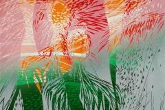 Sommerdans Linosnitt (52x60 cm) kr 4300 ur