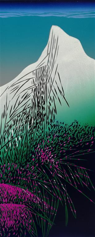 Fra en vårtur Linosnitt (80x33 cm) kr 4100 ur