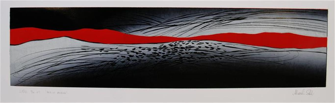 Fra et øyeblikk Linosnitt (80x20 cm) kr 2600 ur