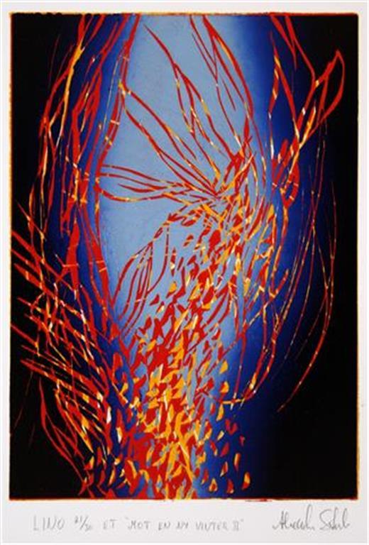 Mot en ny vinter II Linosnitt (23x16 cm) kr 1500 ur