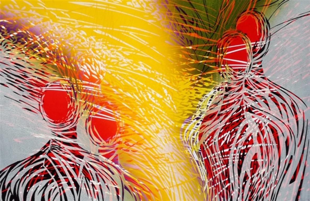 Sommeren med oss Linosnitt (41x62,5 cm) kr 3700 ur