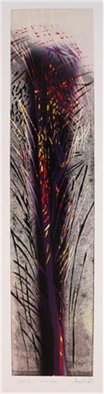 Ut av mørket I Linosnitt (80x18 cm) kr 2600 ur