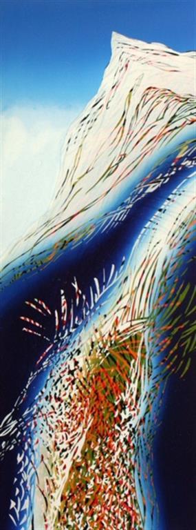 Våren våkner Linosnitt (80x30 cm) kr 3500 ur