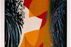 I stundens øyeblikk III Linosnitt (80x29 cm) kr 3100 ur