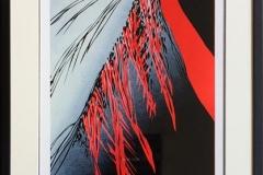 Natten trer frem I Linosnitt (80x35,5 cm) kr 5400 mr