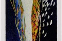 Våryr II Linosnitt (26x16 cm) kr 1100 ur