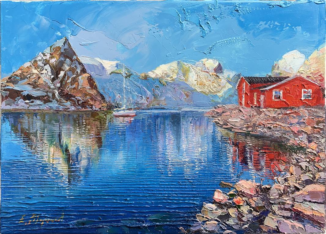 Fra Lofoten Oljemaleri (33x46 cm) kr 20000 ur